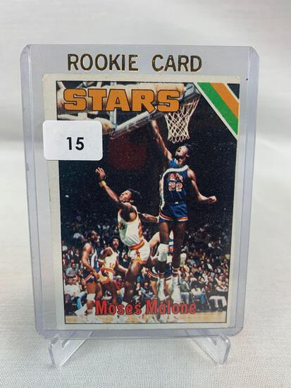 Moses Malone rookie card, 1975-76 Topps