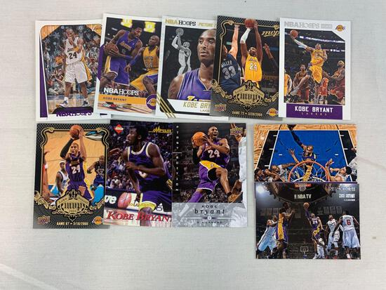 Kobe Bryant lot of 10 with Edge rookie
