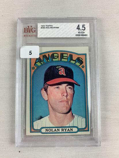 Nolan Ryan 1972 Topps Beckett graded VG-EX+, high number