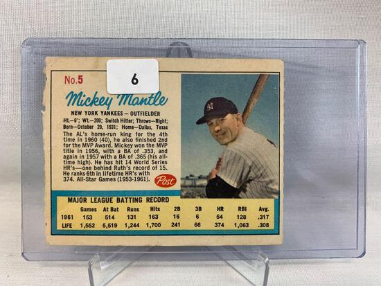 Mickey Mantle Post Cereal card