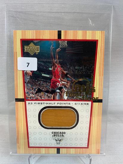 Michael Jordan Upper Deck relic game floor piece