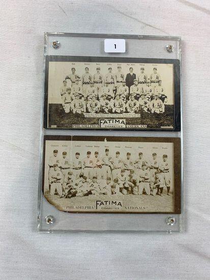 1913 Fatima T200 Philadelphia Phillies & Athletics Pair