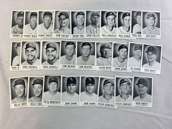 1960 Leaf Lot of 27 High Numbers