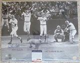 Huge Carlton Fisk Signed 16x20 Photo Of 1975 World Series HR PSA/DNA
