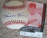 Harmon Killebrew Signed Official American League Baseball