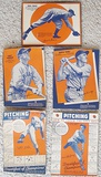 Lot Of 5 Different 1930's Wheaties Cards w/ Lefty Gomez Carl Hubbell