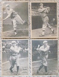 Lot Of 4 Different 1929 R316 Kashin Publications Browns Yankees
