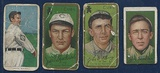 Lot Of 4 Different Early 1900's Tobacco Baseball Cards w/ Joe Tinker