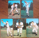 Near Set 5/6 1955 Cleveland Browns Giant Postcards