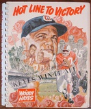 1969 Woody Hayes Signed OSU Buckeyes Hot Line To Victory Book