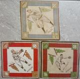 Lot Of Three 1914 B18 Tobacco Baseball Blankets Morgan, Tyler, McBride