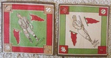 Lot Of Two 1914 B18 Tobacco Baseball Blankets Doyle, Wagner