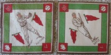 Lot Of Two 1914 B18 Tobacco Baseball Blankets Fletcher, Doyle