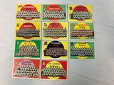 1959 Topps team card group of 11, no duplicates