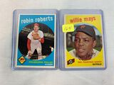 1959 Topps Willie Mays and Robin Roberts
