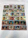 1952-56 Bowman & Topps Baseball Cards - Lot of 25