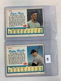 1962 Post Cereal #5 & #6 Mickey Mantle and Roger Maris - Ad Backs