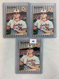 1989 Fleer #616 Bill Ripken Error Cards - Lot of 3