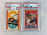 1959-60 Topps Hank Aaron High Number Lot of 2 - PSA Graded