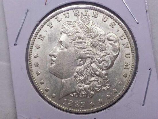 1887O MORGAN DOLLAR AU