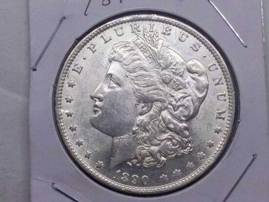 1890O MORGAN DOLLAR UNC