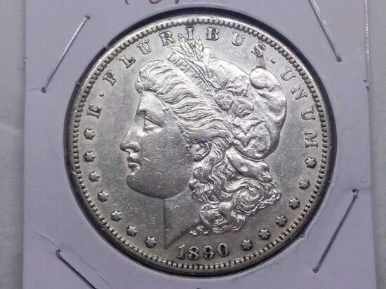 1890S MORGAN DOLLAR AU