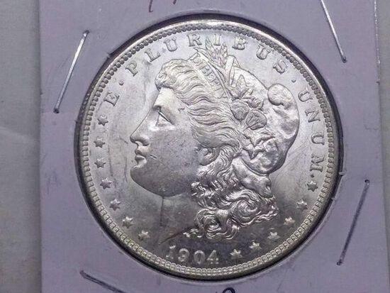 1904O MORGAN DOLLAR BU