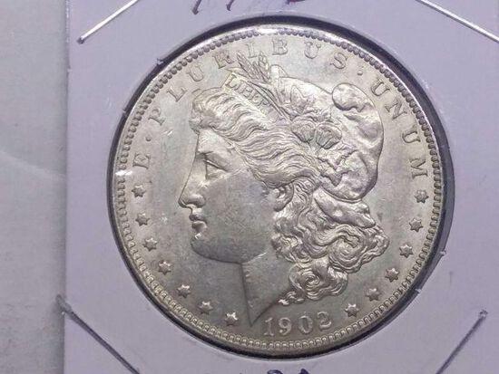 1902 MORGAN DOLLAR AU
