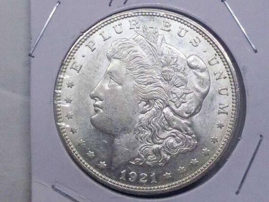 1921D MORGAN DOLLAR UNC