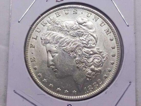 1882O MORGAN DOLLAR UNC