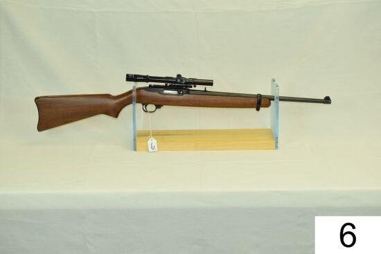 Ruger    Mod 10-22    Carbine    Cal .22 LR    Walnut Stock    W/ Antler 4x