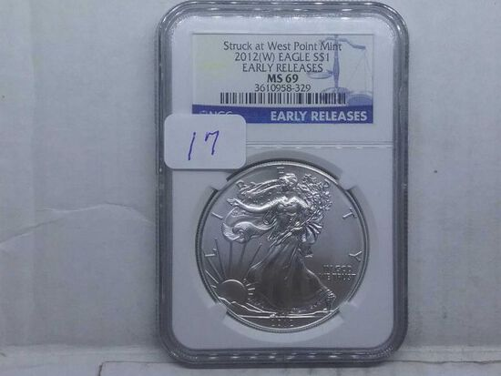2012(W) SILVER EAGLE NGC MS69 EARLY RELEASES