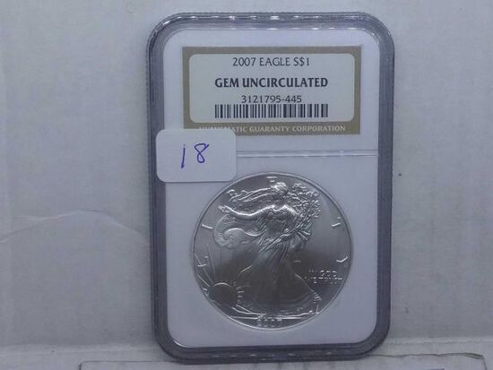 2007 SILVER EAGLE NGC GEM UNCIRCULATED