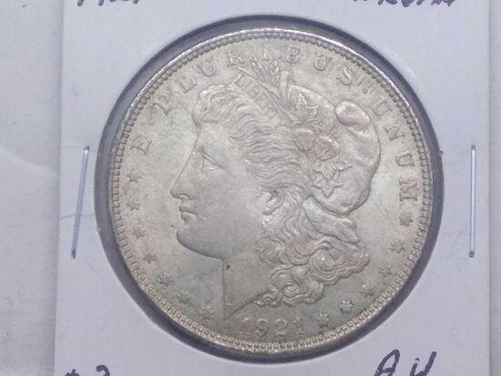 1921 MORGAN DOLLAR AU