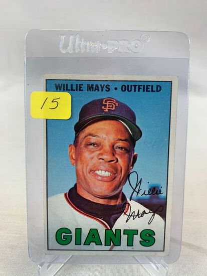 Willie Mays 1967 Topps card # 200