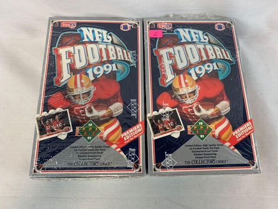 Upper Deck football sealed boxes (two)