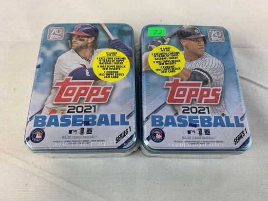 2021 Topps baseball sealed tin (2)