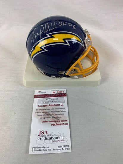 Fred Dean signed Chargers mini helmet, JSA