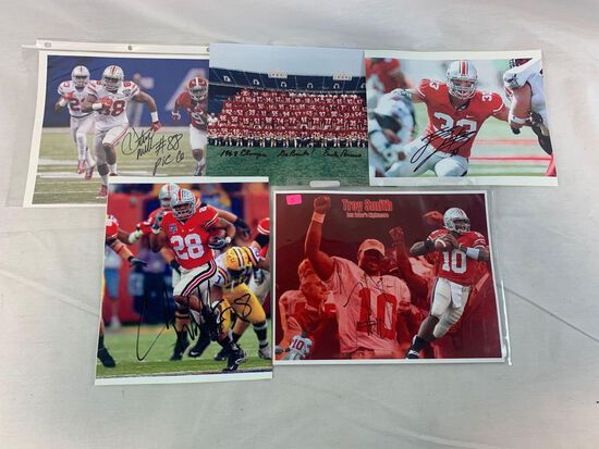 Ohio State signed group of photos (Five)