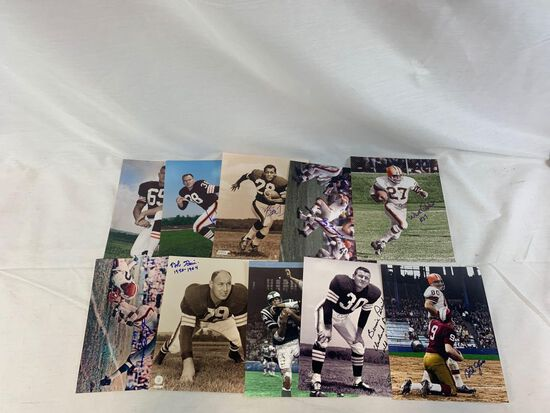 Vintage Cleveland Browns signed group of 10 photos
