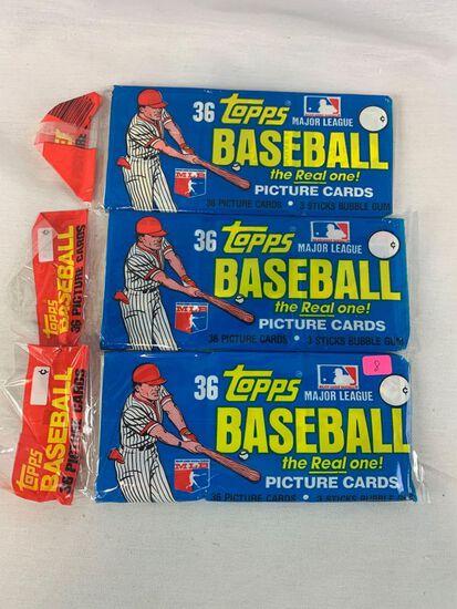 1982 Topps baseball grocery packs (3)