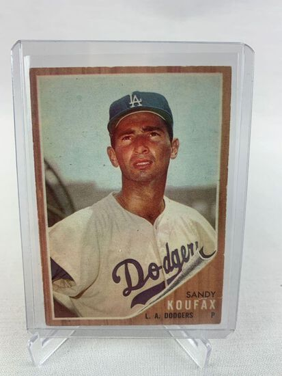 1962 Sandy Koufax Topps baseball Card