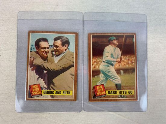 1962 (2) Babe Ruth Topps Baseball Cards Babe Ruth Special