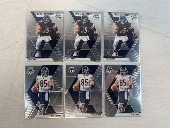 (6) COLE KMET 2020 MOSAIC NFL ROOKIE CARD  CHICAGO BEARS