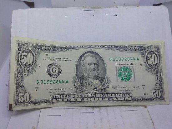1988 $50. FEDERAL RESERVE NOTE