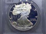 2004W PROOF SILVER EAGLE PCGS PR69 DCAM