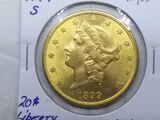 1899S $20. LIBERTY GOLD CHOICE BU