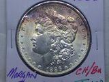 1886 MORGAN DOLLAR CHOICE BU TONING