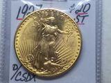 1927 $20. SAINT GAUDENS GOLD PIECE BU