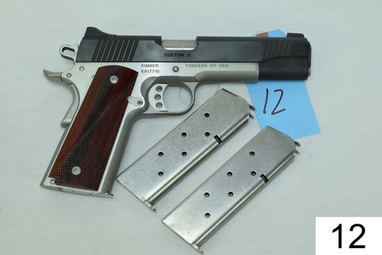 Kimber    Custom II    Cal .45 ACP    SN: K617715    3 Mags    Condition: 95% W/Box